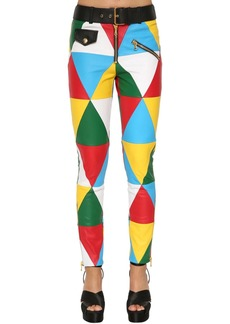 Moschino Multicolor Leather Pants