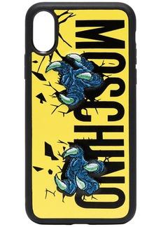 Moschino Claw logo print iPhone X case