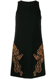 Moschino Mythological creatures crepe dress