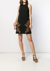 Moschino Mythological creatures crepe dress