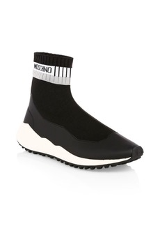 Moschino Neoprene Stamp Sock Sneakers