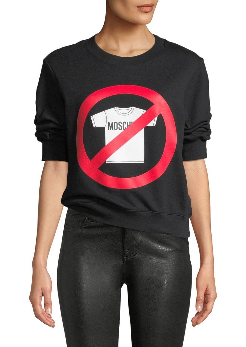 No Moschino Graphic Sweatshirt