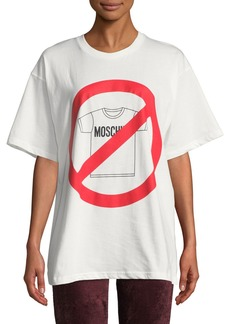 No Moschino Oversized Graphic Tee