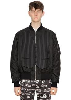 Moschino Nylon Bomber Jacket W/ Vest
