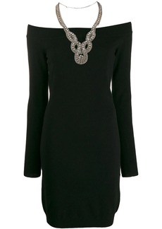 Moschino off-shoulders embellished dress