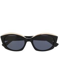 Moschino oval frame sunglasses