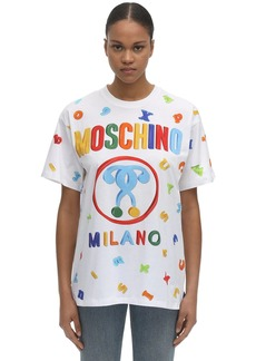 Moschino Over Magnet Print Cotton Jersey T-shirt