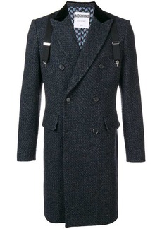 Moschino overall tweed coat