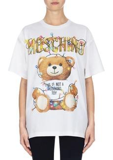Moschino Oversize Holiday Teddy Tee
