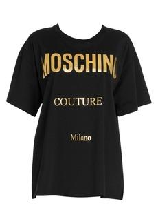 Moschino Oversize Metallic Logo Tee