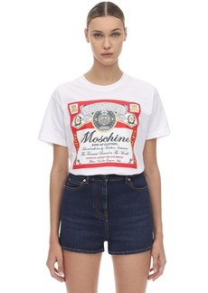 Moschino Oversize Printed Cotton Jersey T-shirt