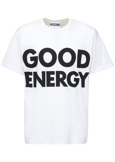 Moschino Oversize Printed Cotton T-shirt