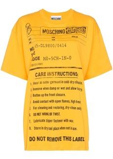 Moschino oversized care label-print T-shirt