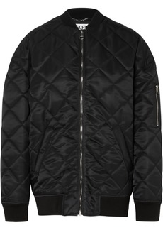 Moschino Oversized Embellished Quilted Shell Bomber Jacket