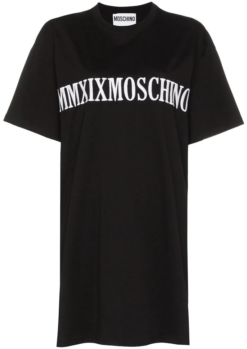 Moschino oversized logo-embroidered T-shirt