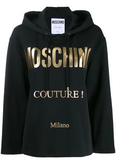 Moschino oversized logo print hoodie