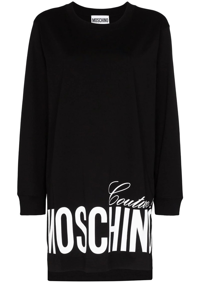 Moschino oversized logo-print sweatshirt dress