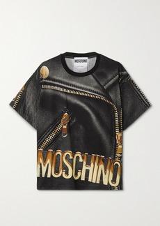 Moschino Oversized Printed Cotton-jersey T-shirt