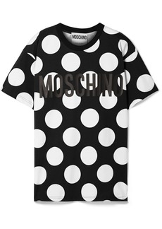 Moschino Oversized Printed Cotton-jersey T-shirt
