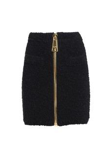 Moschino Oversized Zip Fluffy Skirt