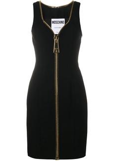 Moschino oversized zip mini dress