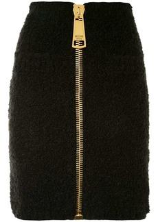 Moschino oversized zip skirt