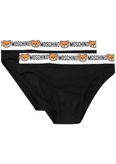 Moschino pack of 2 teddy logo waistband briefs