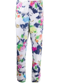 Moschino paint-effect track pants