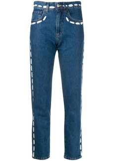 Moschino paint stroke jeans