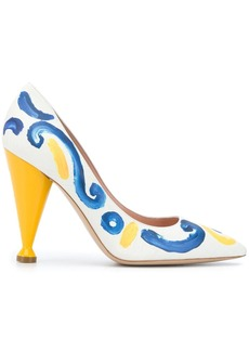 Moschino painted 110mm pumps