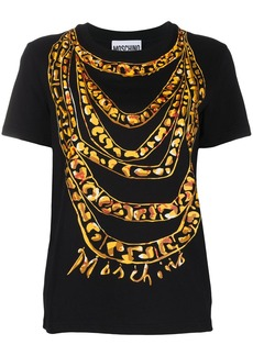 Moschino painted chain print T-shirt