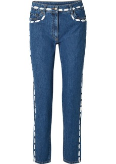Moschino Painted Mid-rise Skinny Jeans