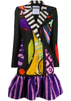 Moschino painted-print blazer-style dress