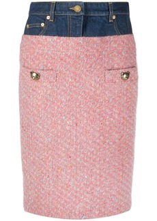 Moschino panelled pencil skirt