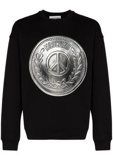 Moschino Peace Coin print sweatshirt