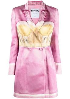Moschino peak-lapel double-breasted blazer dress