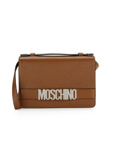 Moschino Pebbled Leather Boxed Shoulder Bag