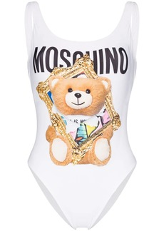Moschino picture frame Teddy bear print swimsuit