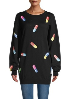 Moschino Pill-Print Virgin Wool Tunic