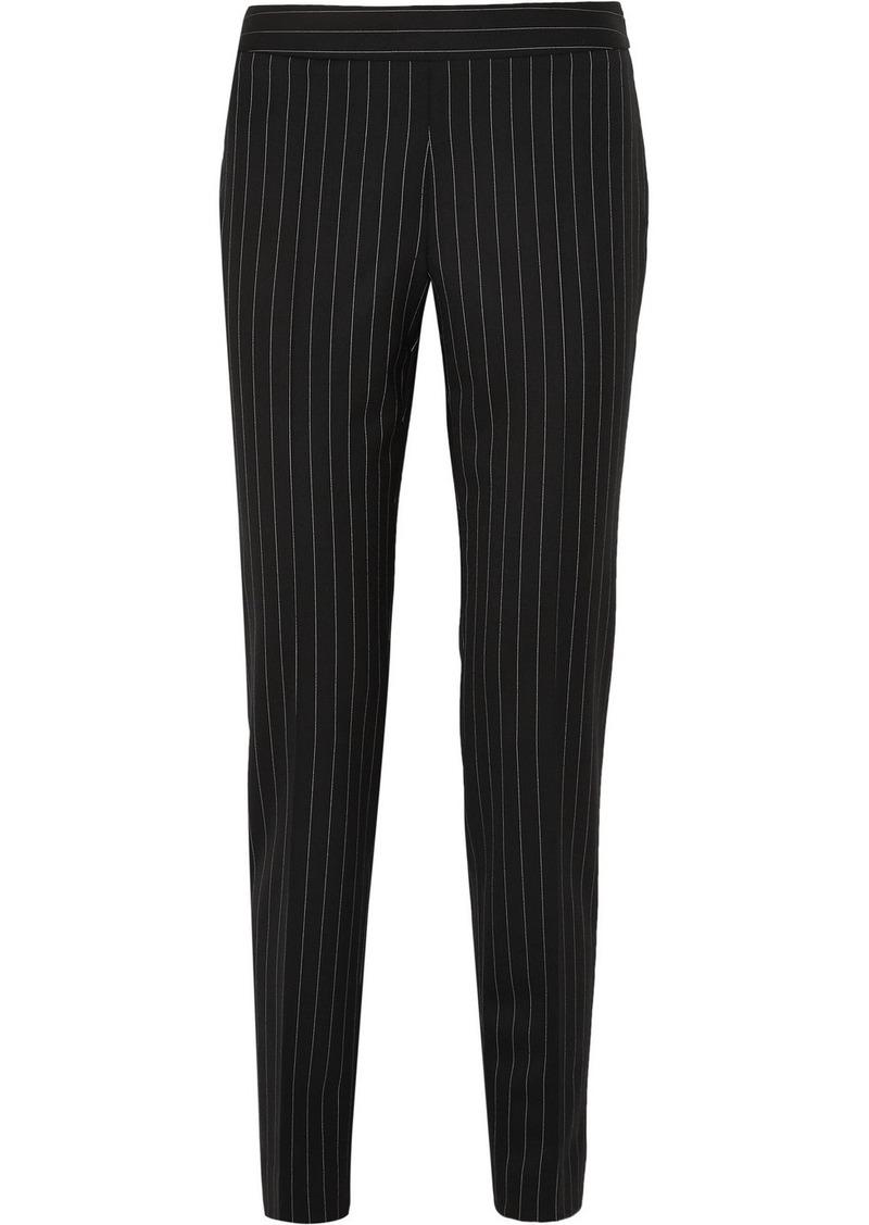 Moschino Pinstriped Wool-blend Straight-leg Pants