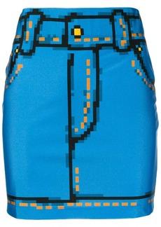 Moschino pixel print mini skirt