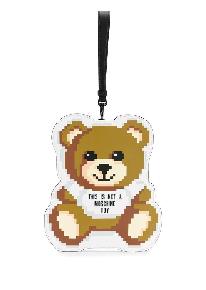 Moschino Pixel Teddy clutch