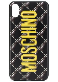 Moschino pixelated iPhone Xs Max logo case