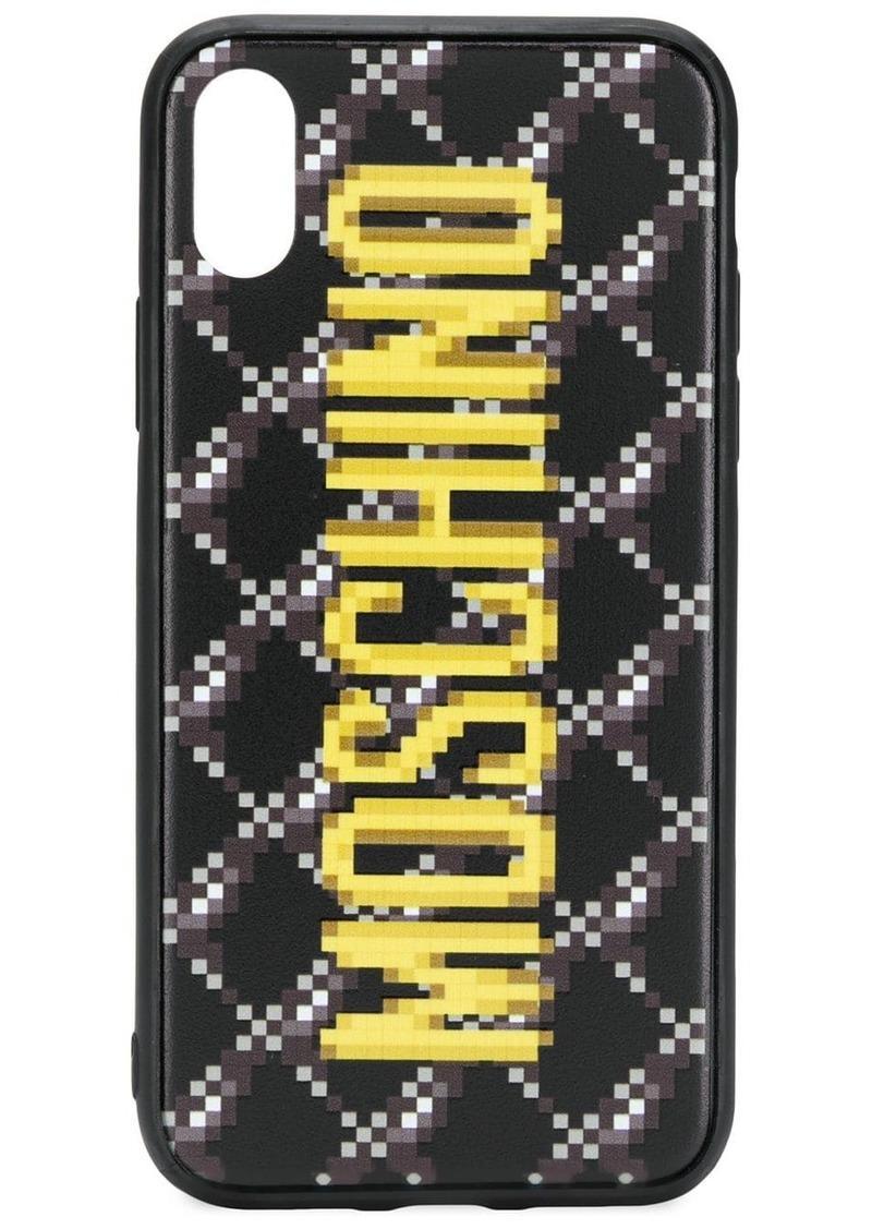 Moschino pixelated logo iPhone X/XS case