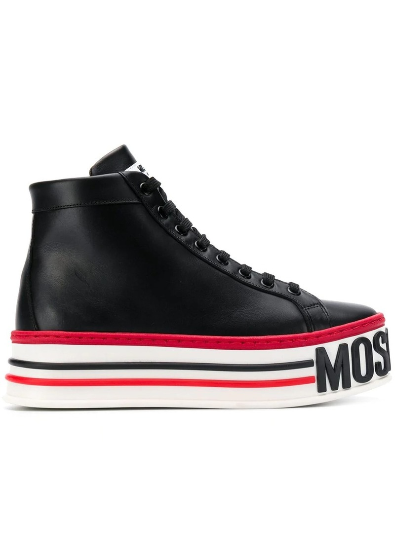 Moschino platform high-top sneakers
