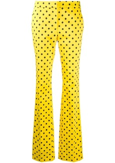 Moschino polka dot flared trousers