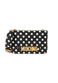 Moschino Polka Dot Leather Satchel
