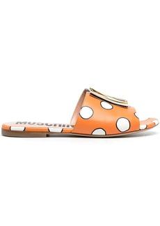 Moschino polka-dot logo-plaque sandals