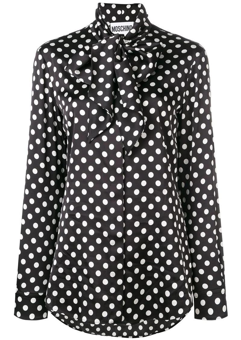 Moschino polka dot print blouse