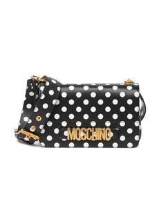 Moschino Polka Dot Print Leather Satchel